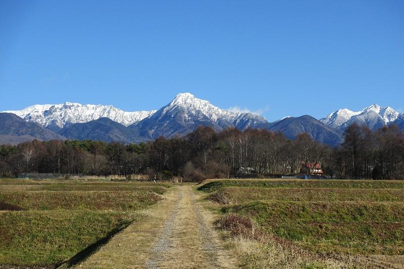 農道から見た八ヶ岳
