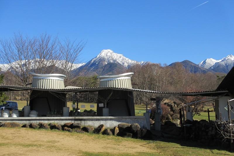 農業大学校から見た八ヶ岳