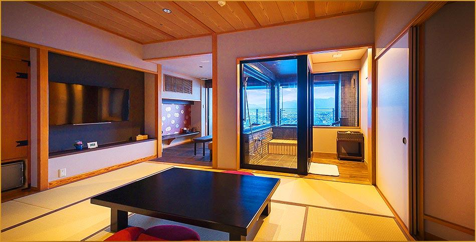温泉展望風呂10畳リビング付き上級和室