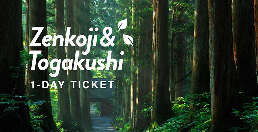 Zenkoji & Togakushi 1 DAY TICKET