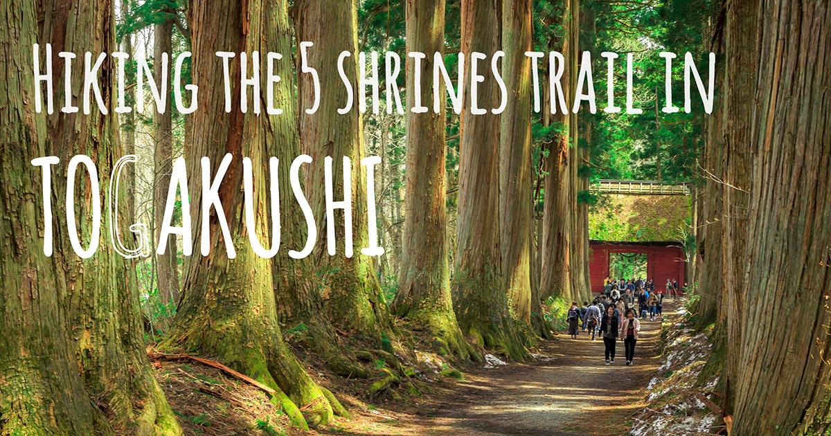 Hiking the 5 shrines trail in Togakushi