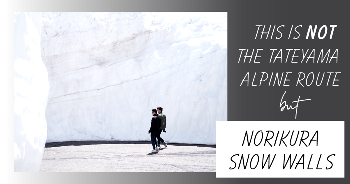 The Tateyama Kurobe Alpine Route is not the only place with a snow wall!