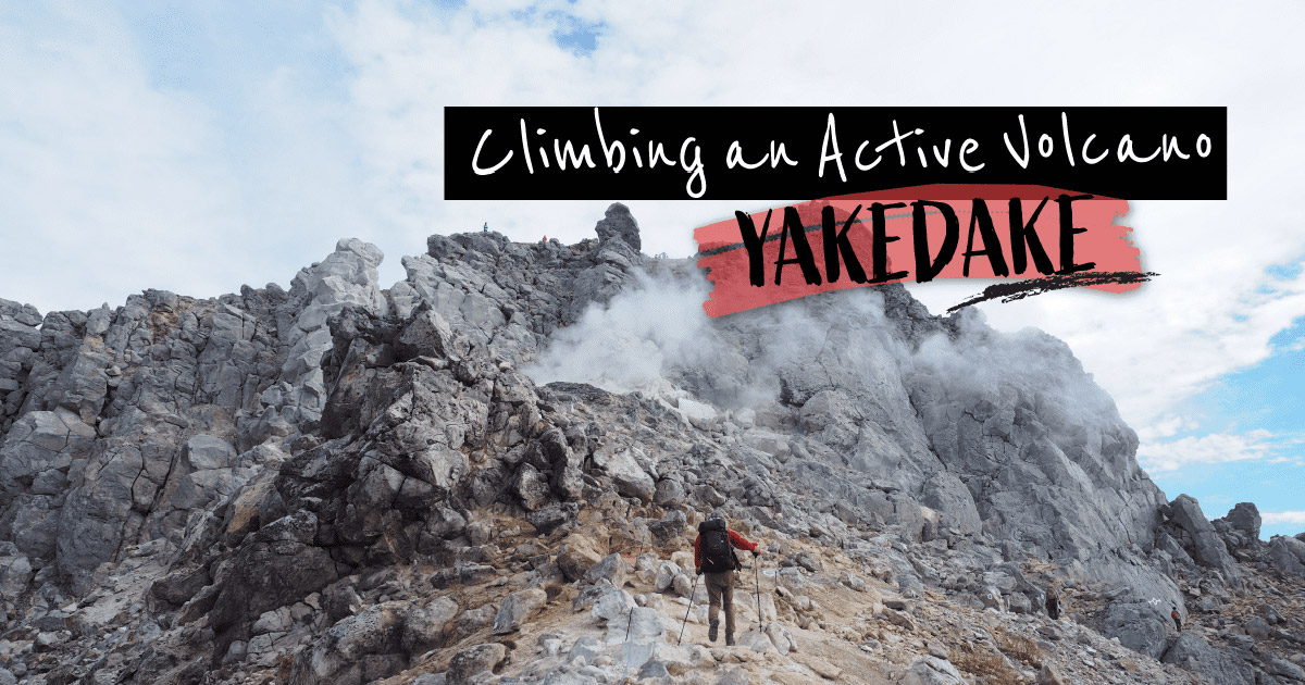 "A day trip climbing the active volcano ""Mt. Yake"""