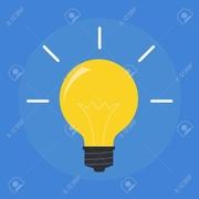 55517240-ベクトル-フラット電球。現代の電球アイコン。概念のアイデア、革新的なヒント。孤立した電球記号です。黄色のライトが光っています。シンプル.jpg