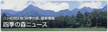八ヶ岳別荘地「四季の森」最新情報 四季の森ニュース
