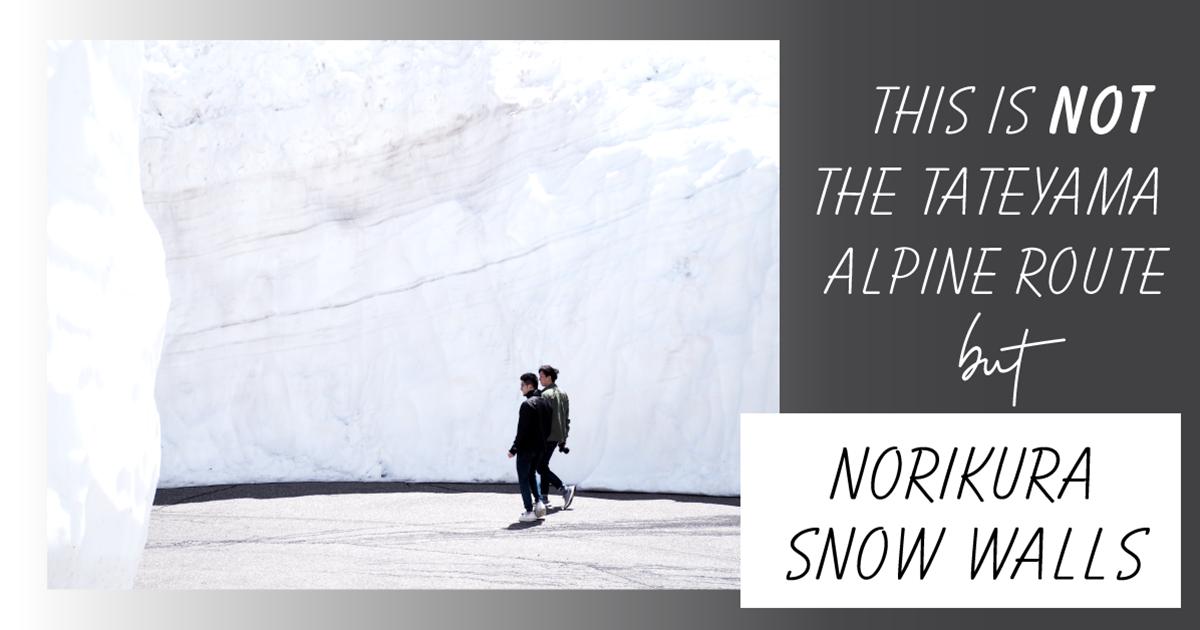 偷偷告訴你,不是只有黑部立山才有雪壁