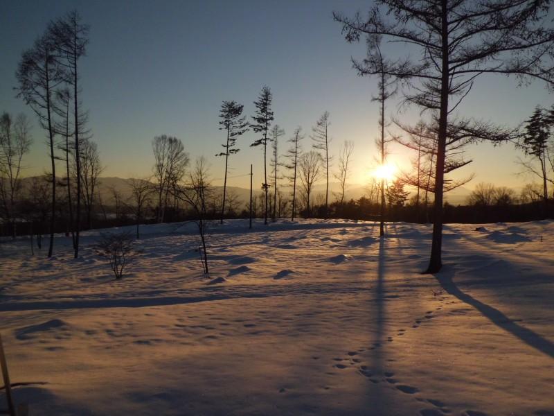 <p>冬の夕焼け</p>